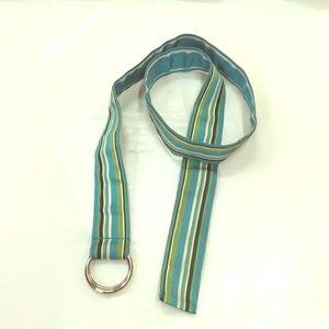 Aeropostale Reversible Fabric Belt w/ Silver Loops